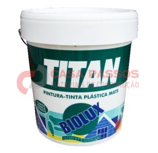 Tinta Plastica Biolux 15lt Branco mate TITAN