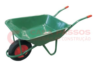 Carro Mão Verde Roda Pneumática