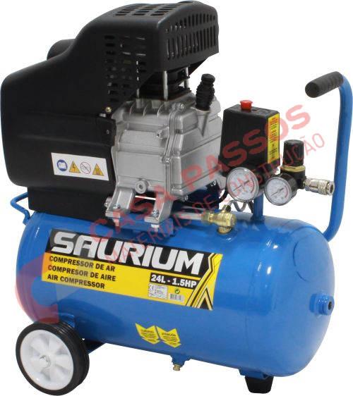 Compressor 24L, 1.5HP, Monofásico - SAURIUM