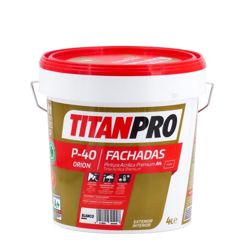 Tinta Acrílica Premium Branco mate P-40 Titan Pro