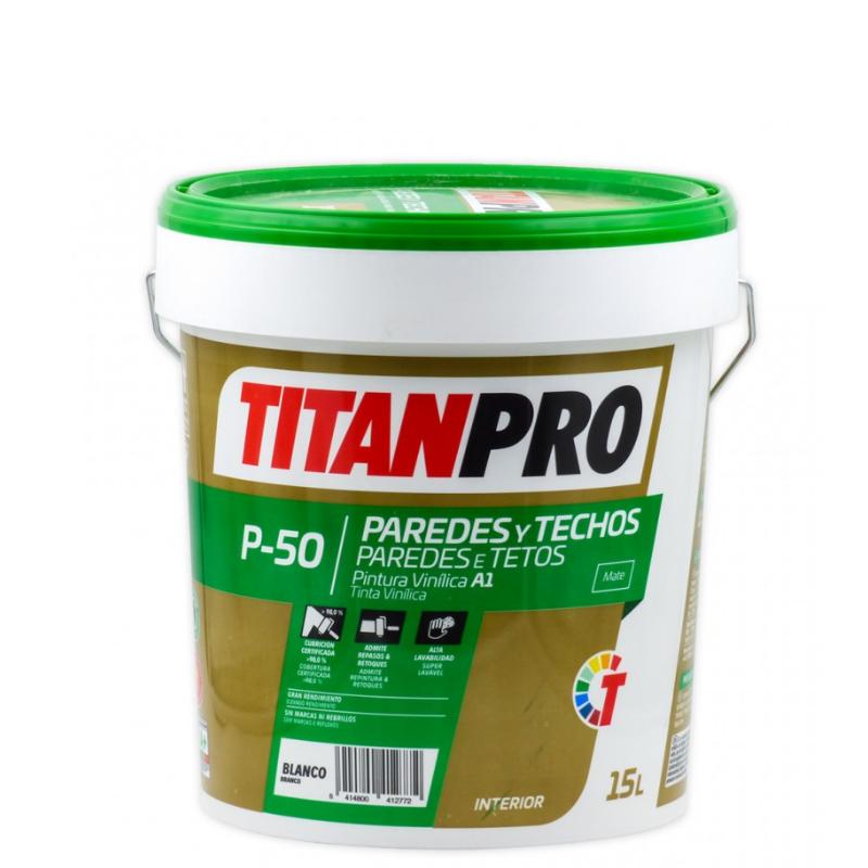 Tinta Vinilica P-50 Mate TITAN PRO