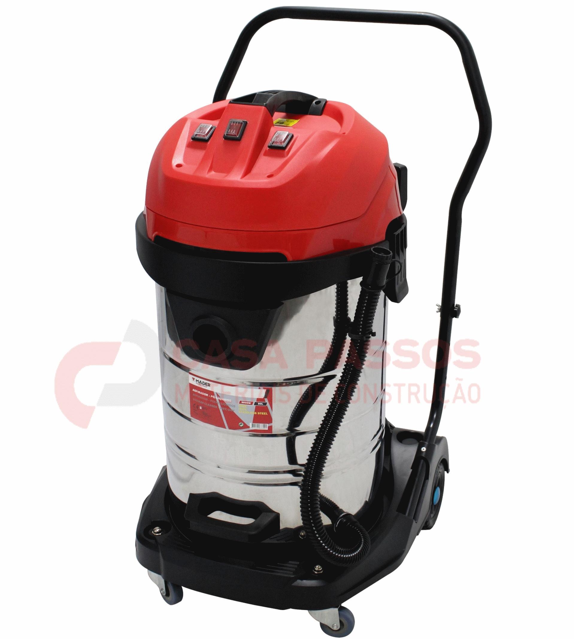 Aspirador de Sólidos e Líquidos 3000W, 80L