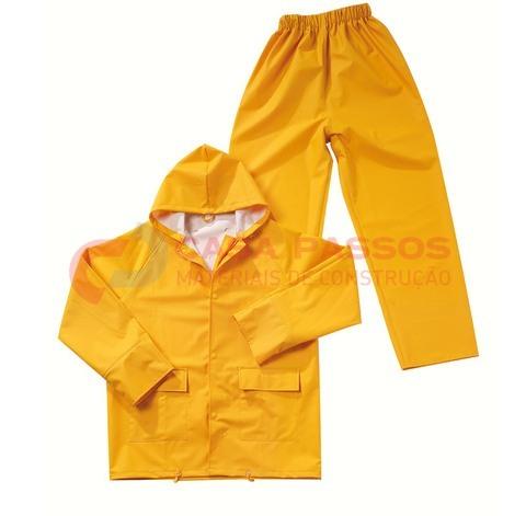 Fato Chuva Impermeavel Amarelo